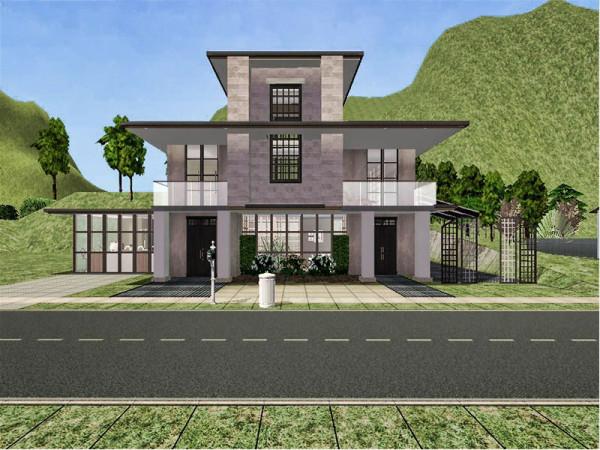 Modern Japanese Mansion (Sim 2) - Lady T Sims 2 Designs