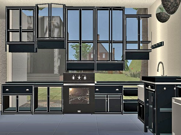 Mins kitchen cabinets lady t sims 2 designs for Sims 2 kitchen ideas