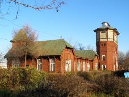 Административный дом и водонапорная башня.