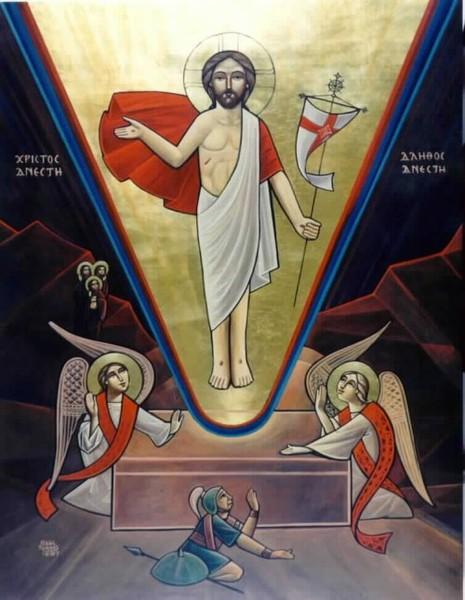 Воскресение Христово. коптская икона
