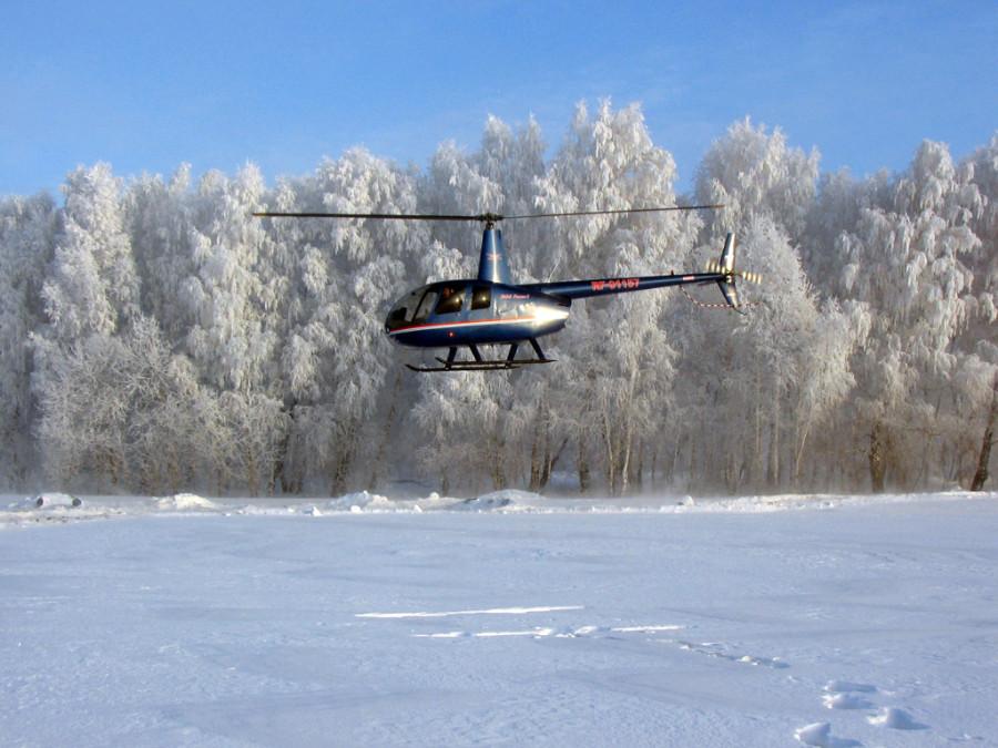 Полёт на вертолёте Robinson R44