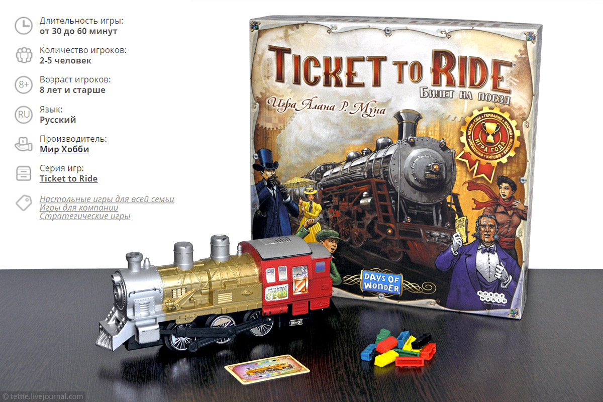 Настольная игра Билет на поезд (Ticket to Ride)