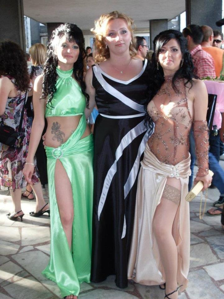 Откровенные платья выпускниц 2017