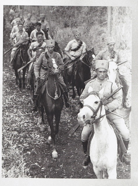 A unit of Jewis Settlement Police cavalry on patrol near the settlement of Nahalal in Jezzril valley.
