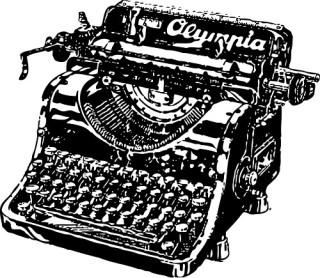 typewriter by john olsen