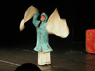танец с длинными рукавами, с помощью которых героиня выражает свои внутренние ощущения