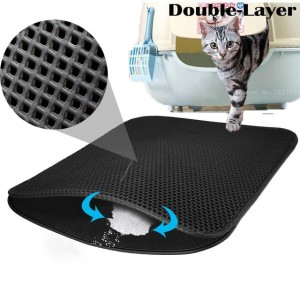 Small-Medium-Large-Waterproof-Cat-Litter-Mat-Pad-Black-Cats-Litter-Trapper-Double-Layer-Nonslip-EVA