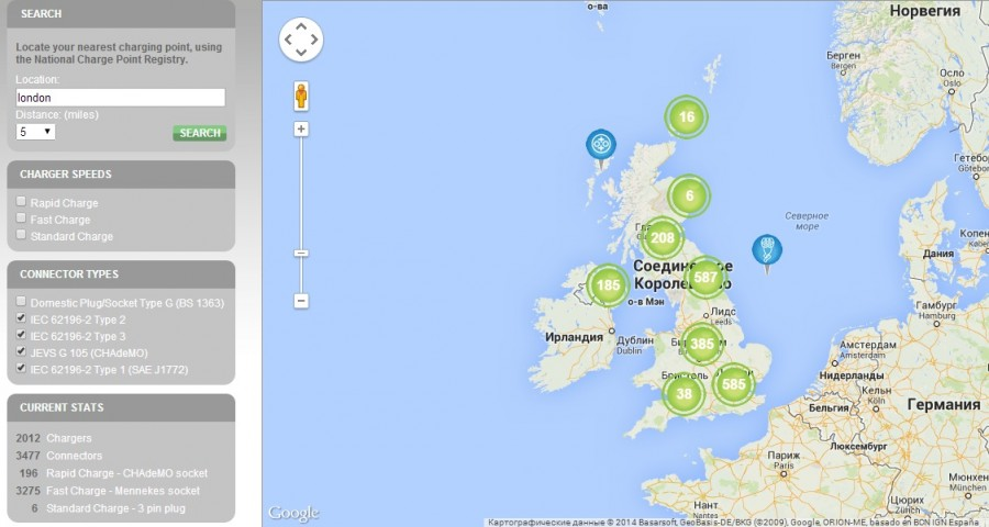 UK charging stations