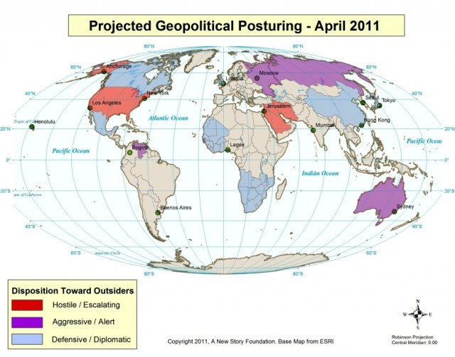 Geopolitical Posturing April 2011 shows U.S. / Middle East escalation risk