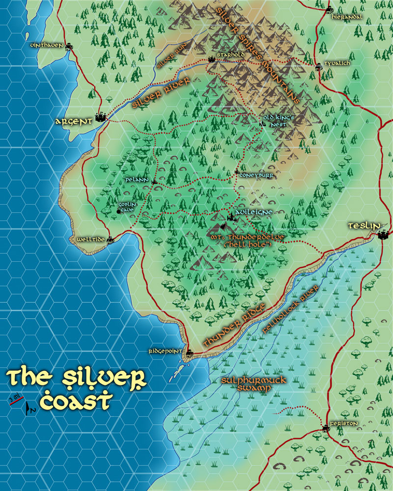 Silver Coast Overland Map
