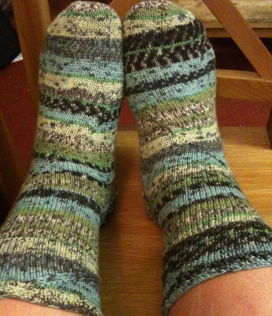 Spiraling Coriolis Socks