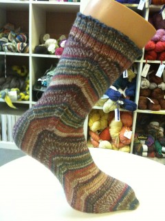 First skew sock, complete