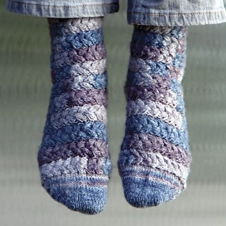 Spiral Cable Socks, from Think Outside the Sox