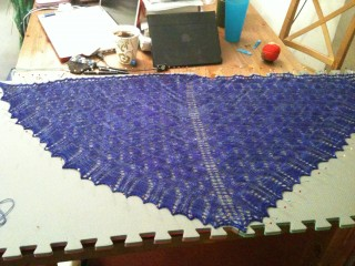 Dover Castle Shawl, Getting Dressed
