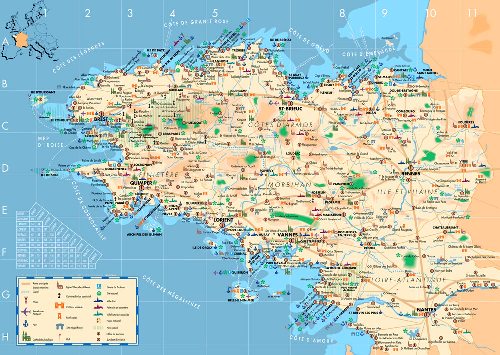Brittany-Tourist-Map