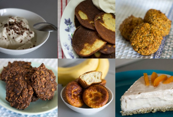 6 десертов без сахара и сахарозаменителей. collage