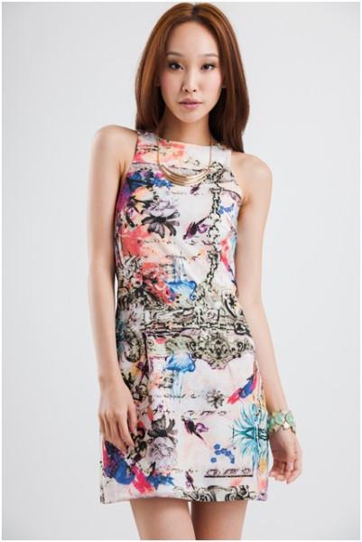 Grandeur Abstract Dress - $29.50