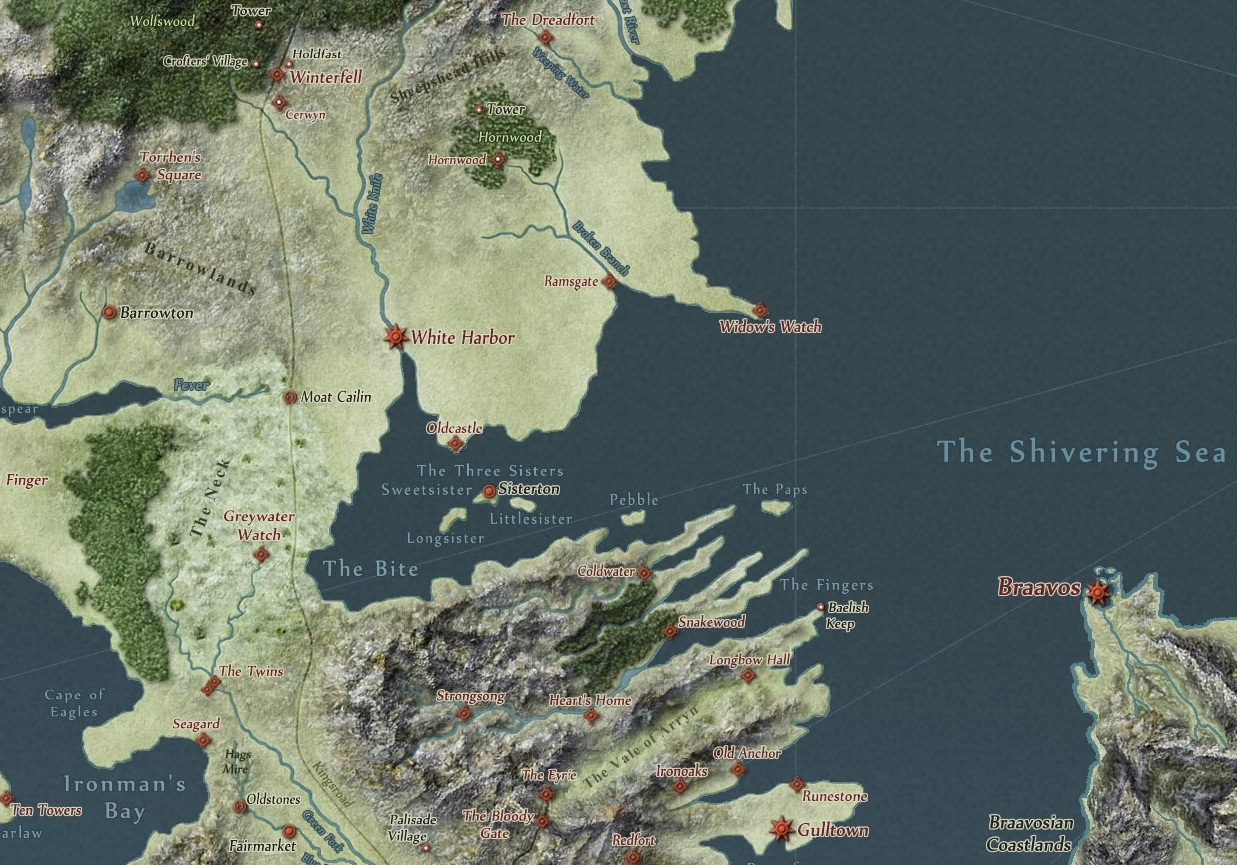 part of westeros closest to braavos braavos map game thrones