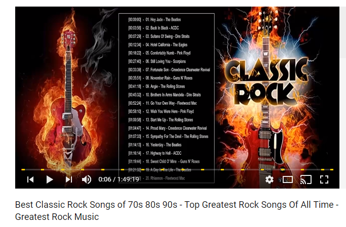 Top 100 Best Rock Songs Of All Time | Greatest Classic Rock Songs