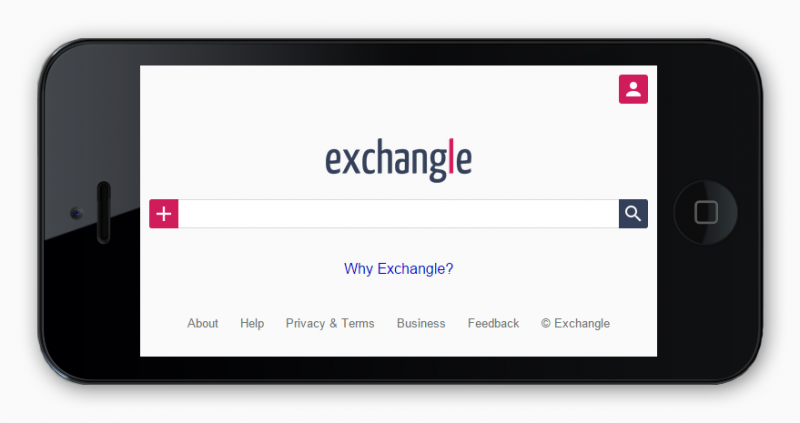 Exchangle is a customized search engine where people from all around the world