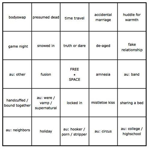 my trope bingo