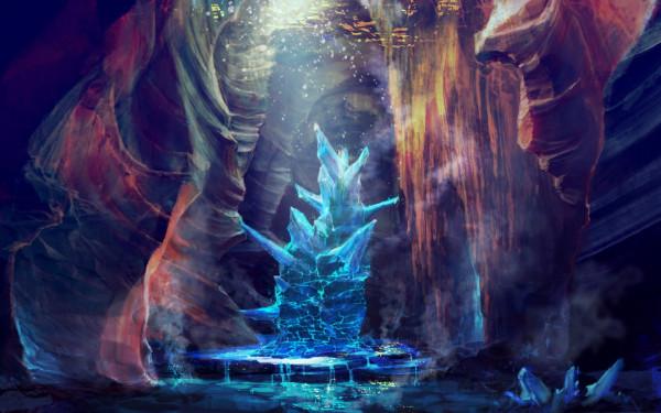 467744_art_peshhera_kristall_treshhiny_voda_ruchejki_1680x1050_(www.GdeFon.ru)