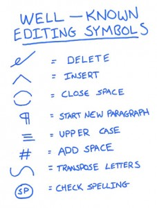 Lesser-Known Proofreading Marks