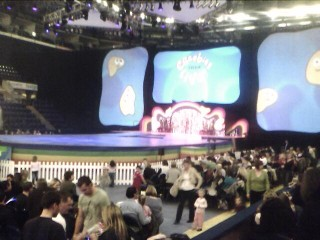 Mobile Post: CBeebies Live! - sneaky stage pic