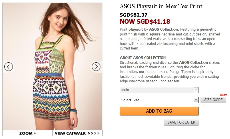 mex tex print playsuit