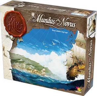 Настольная игра Мондус новус - Новый Свет (Boardgame Mundus Novus). Коробочка