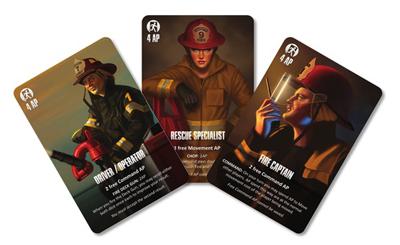 Настольная игра Горячая точка - спасение из огня (Boardgame Flash Point - Fire Rescue). Карты специалистов