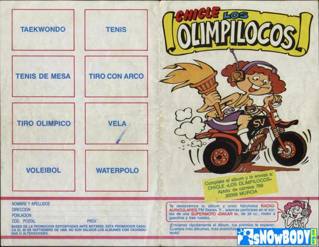 Лист #1 для наклеек из жевательных резинок Los Olimpilocos.