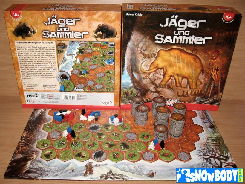 Настольная игра Охотники и собиратели. Компоненты