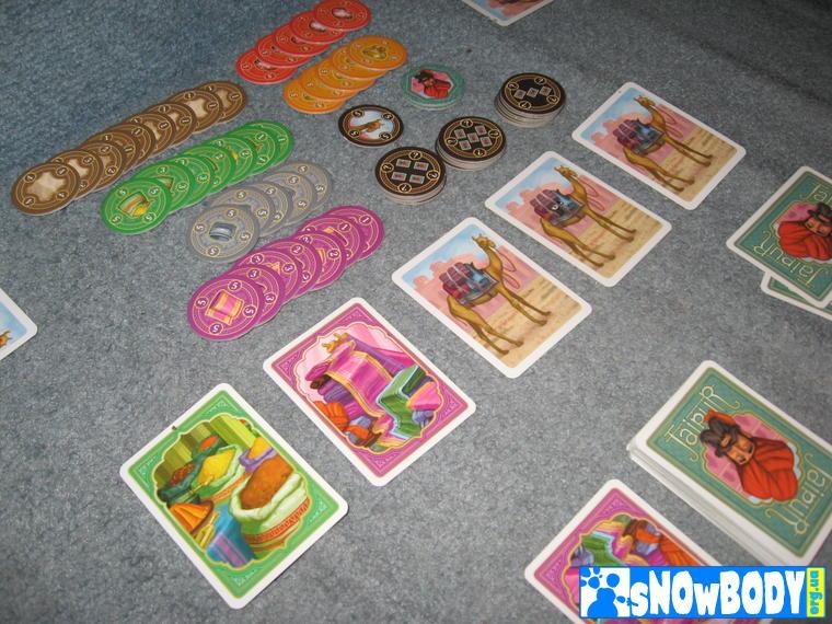 Настольная игра Джайпур (Jaipur) - Пример начала игрового раунда