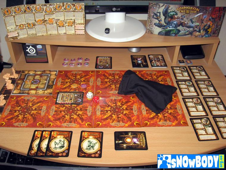 Настольная игра Dungeon Twister 2: Prison - начало извращений в соло режиме