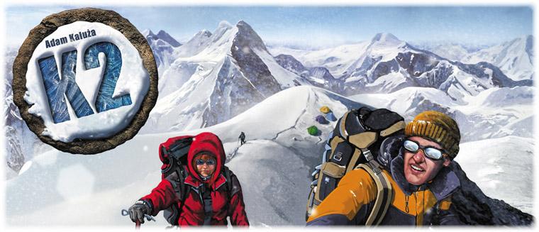 Настольная ига K2. Иллюстрация обложки коробки с игрой