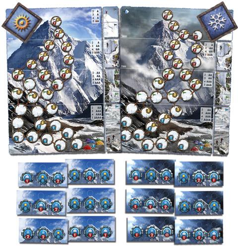 Настольная игра K2. Иллюстрация обложки коробки с игрой