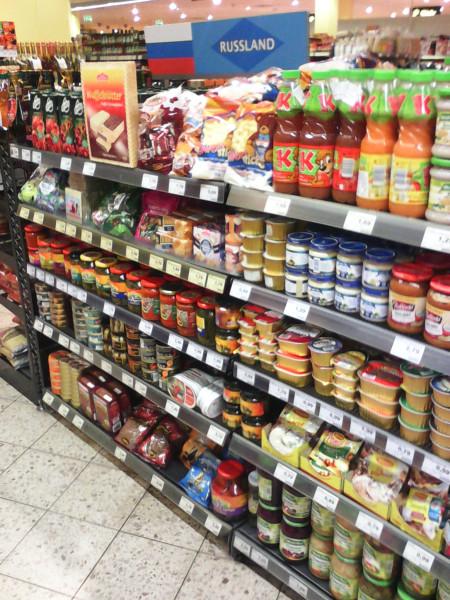 Какие российские товары можно встретить в магазинах Европы