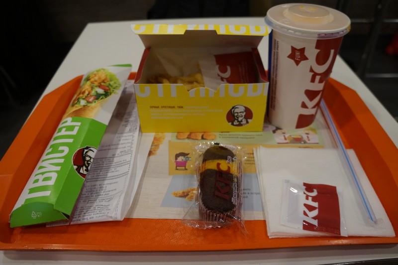 Ланчи в KFC кончились