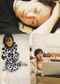 Here we see cutie Ohkura snoozine, Subaru...cowing, and Ryo's shirt allergy while he porns on his macbook~ GOOD TIMES