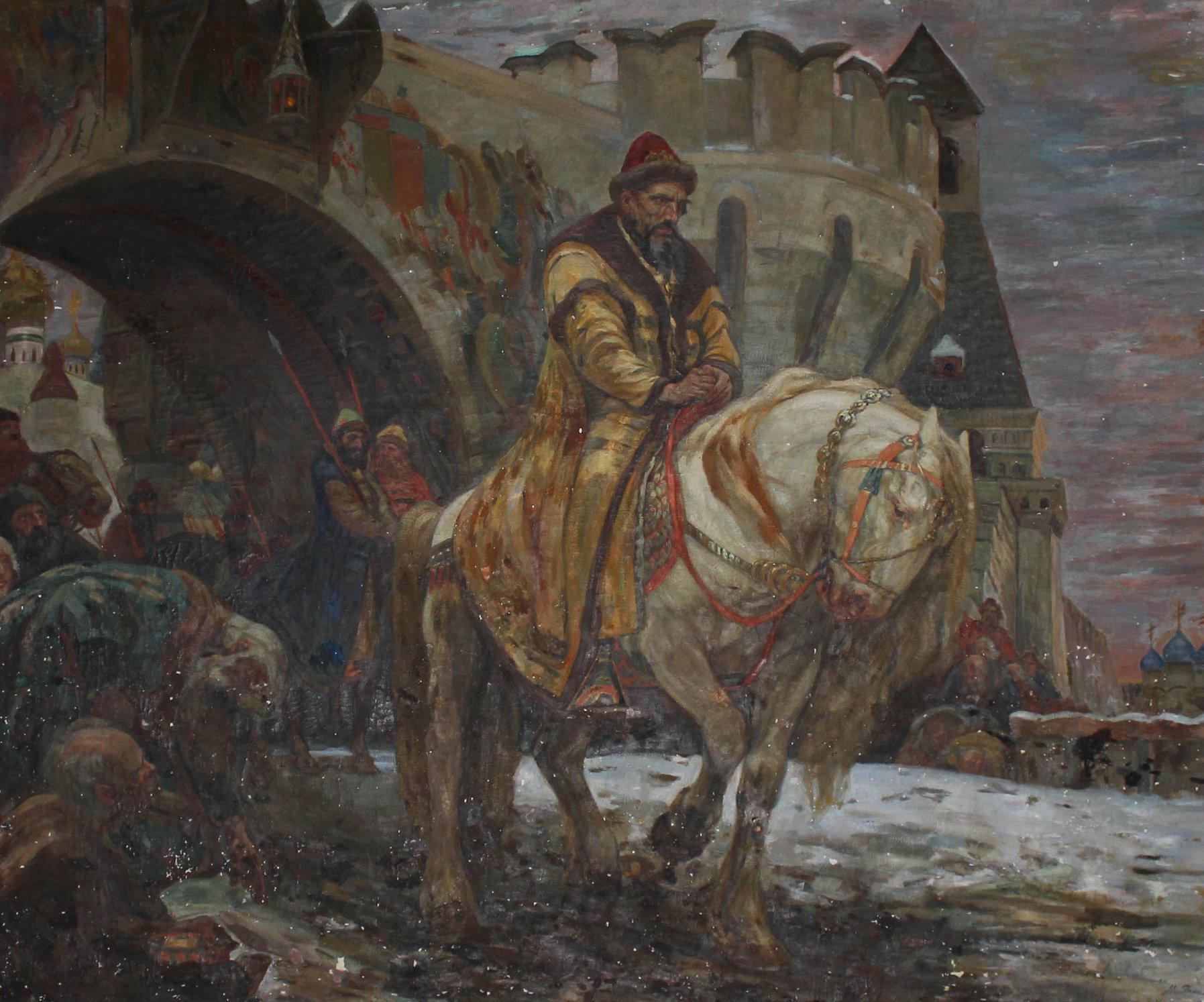М. Панин. тайный выезд Ивана Грозного перед учерждением опричнины. 1911.