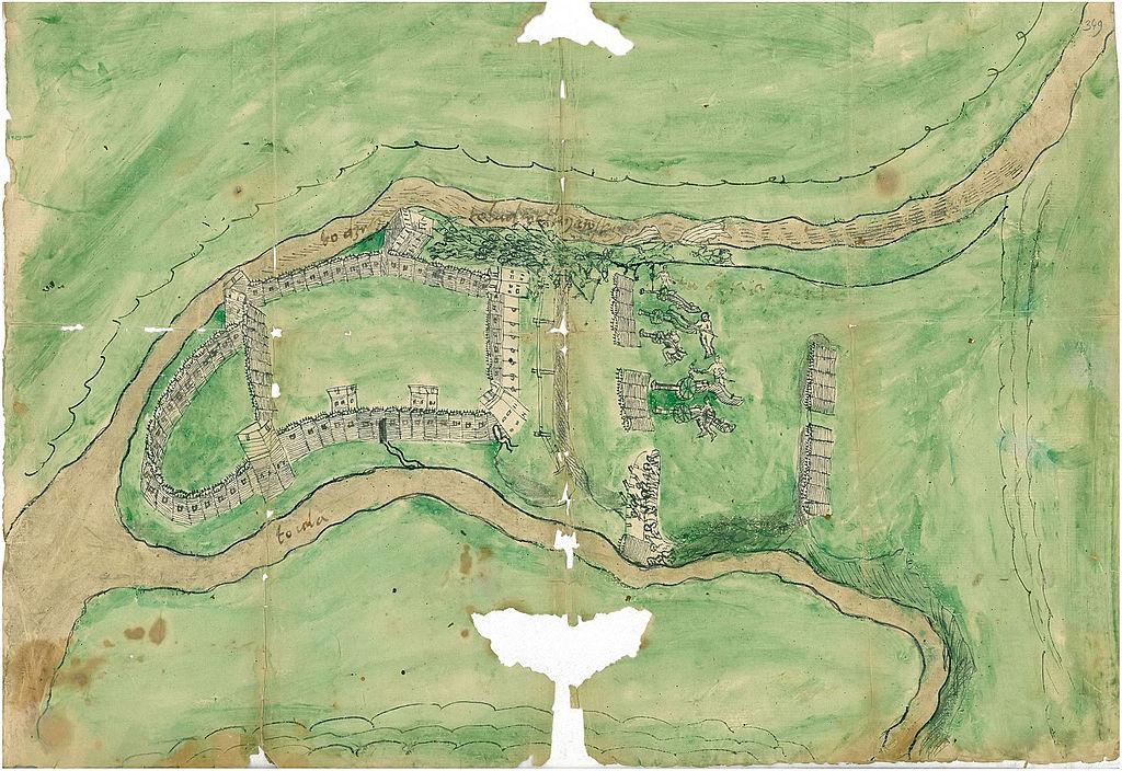 Ulski_zamak._Ульскі_замак_(1568)