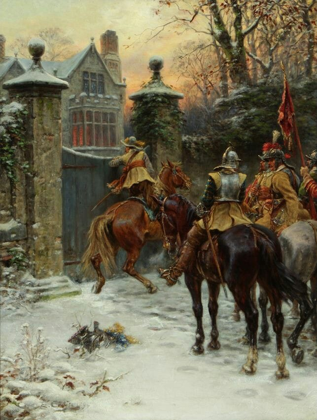 Roundheads at the gate. Ernest Crofts