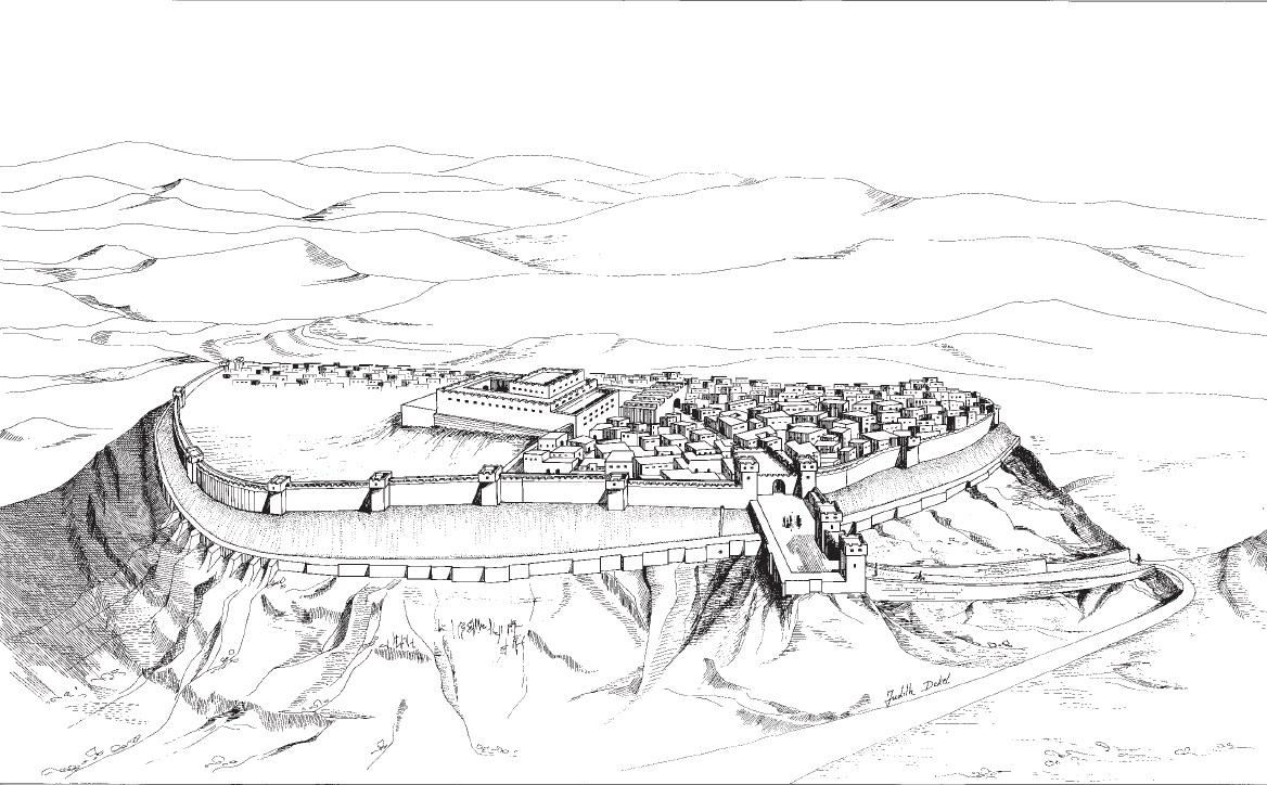 Рис. 2. Реконструкция Лахиша в конце VIII в. до н.э.