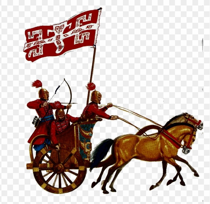 the-shang-chariot-in-battle-ii-clipart