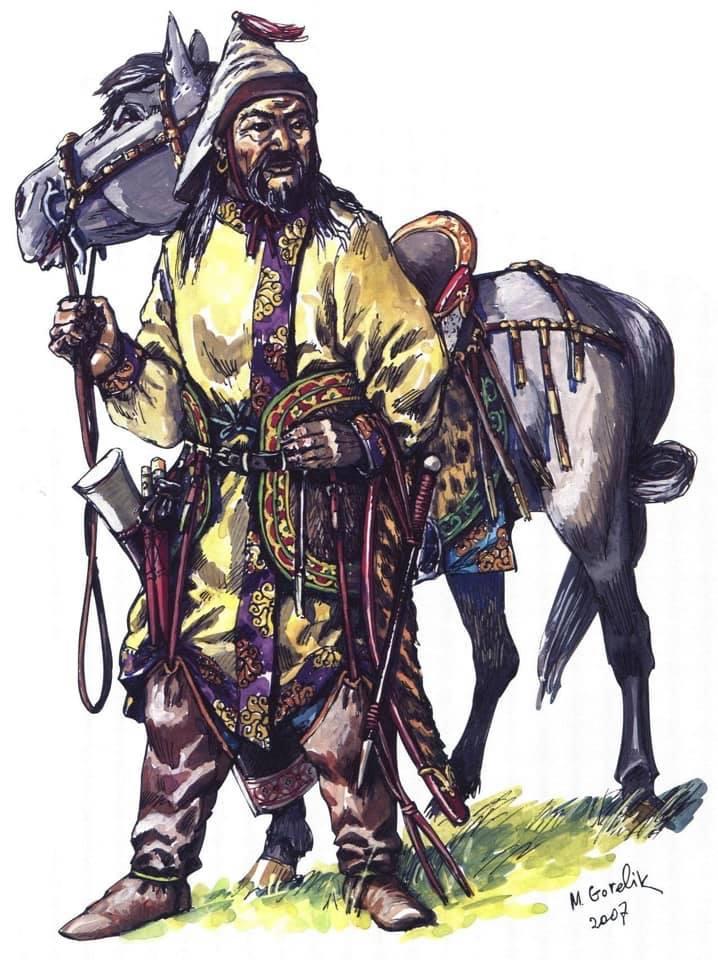 Знатный карлук с конём. IX век