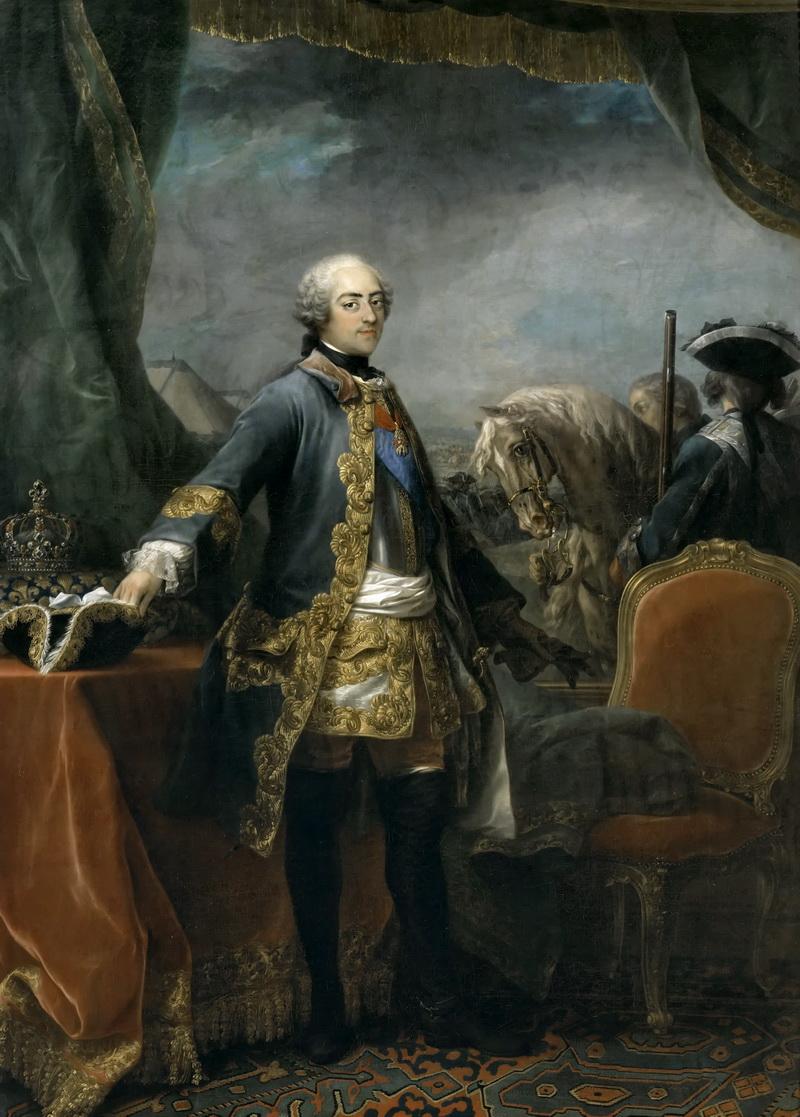 Шарль ван Ло -- Людовик XV, король Франции