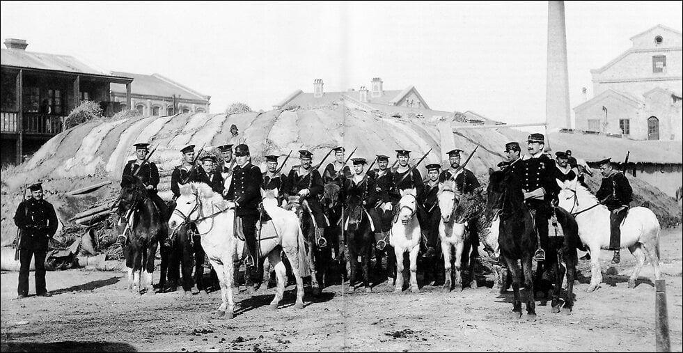 Австро-венгерские конноводолазы в Тянизцине в дни боксерского восстания