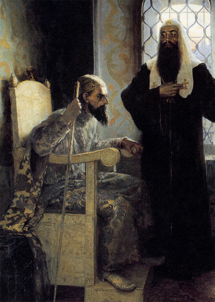Иван iv советуется с митрополитом