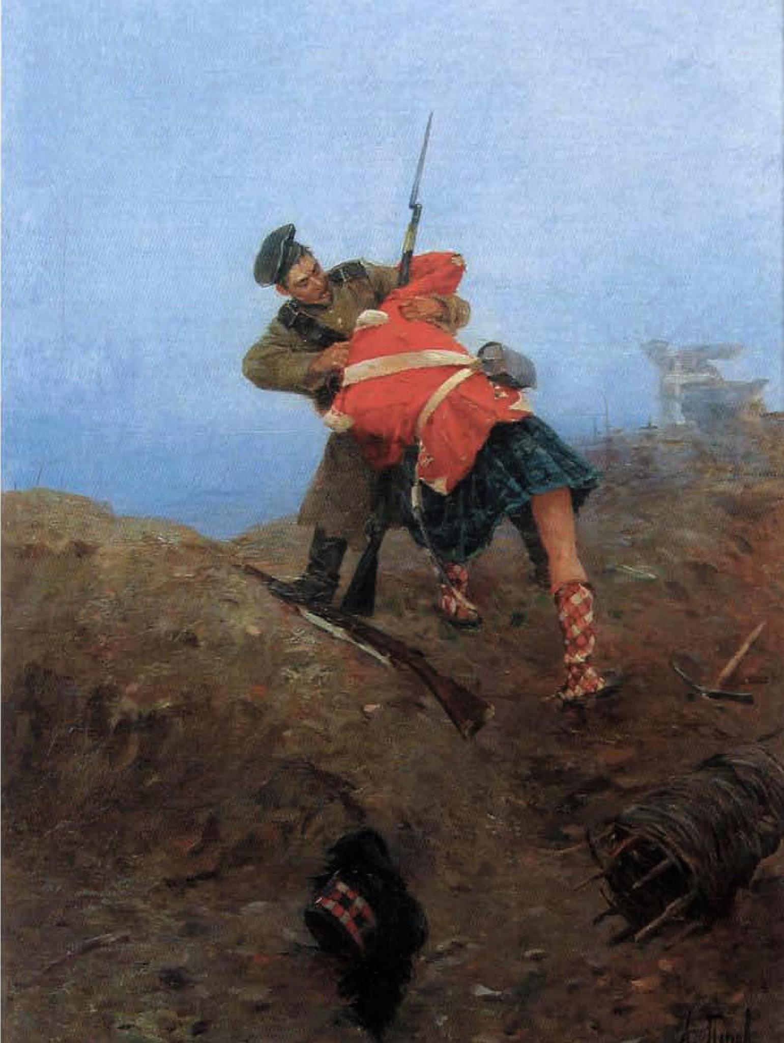 Попов А.Н._Поединок русского матроса с шотландским солдатом под Севастополем_1899